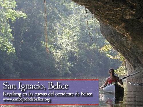 San Ignacio, Kayak en las cuevas de Belice